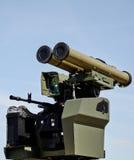 Lance-grenades et mitrailleuse, installation mobile pour la guerre Photos stock