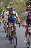 Lance hill climb. Lance Armstrong in hill climb of Stage 3 in 2009 Tour Down Under, Adelaide, Australia in horizontal format Stock Image