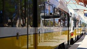 LANCE a los pasajeros del embarque del tren en el Stat del carril de los amantes Foto de archivo libre de regalías