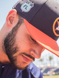 Lance McCullers Jr Houston Astros 2017. March 26, 2017 - West Palm Beach, Florida : Lance McCullers Jr of Houston Astros signs autographs during practice of Royalty Free Stock Image