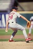 Lance Painter, St. Louis Cardinals. Former St. Louis Cardinals pitcher Lance Painter #28. (Image taken from color slide Royalty Free Stock Image