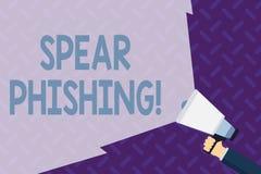 Lance Phishing d'apparence de signe des textes Photo conceptuelle envoyant de faux emails pour extraire des données financières à illustration de vecteur