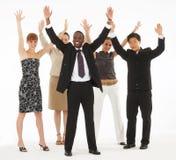 Lance sus manos en el aire Foto de archivo libre de regalías