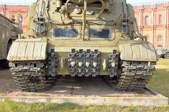 Lanceerinrichting 2P19 van raket complexe 9K72 Elbrus in Militair Artilleriemuseum Stock Foto's