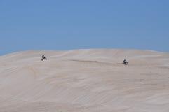 Lancelin piaska diuny Rekreacyjne w zachodniej australii zdjęcie stock