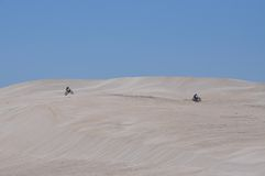 Lancelin Sand Dunes Recreation en Australia occidental Foto de archivo