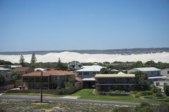 Lancelin sand dunes view from town Stock Images