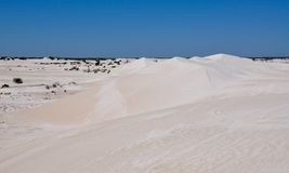 Lancelin: White Dunes Landscape in Western Australia Royalty Free Stock Image