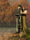 Lancelot And Guinevere royalty-vrije illustratie