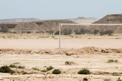 lancement au milieu du désert Image stock