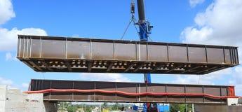 Lancement dans le pont en acier de COR-TEN Photographie stock libre de droits