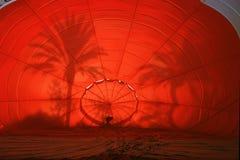 Lancement de ballon d'air chaud Images libres de droits