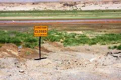 Lancement de bateau à l'hydromel de lac, Nevada Image stock