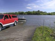 Lancement de bateau Photos stock