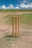 Lancement de cricket et ciel bleu Image stock