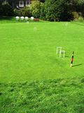 Lancement de jeu de croquet Image stock