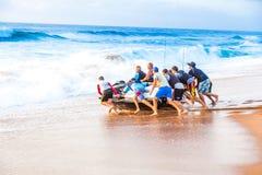 Lancement de plage Image libre de droits