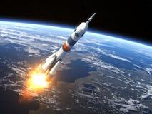 Lancement de Rocket de transporteur Soyuz-FG illustration stock