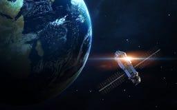 Lancement de vaisseau spatial dans l'espace Éléments de cette image meublés par la NASA photo libre de droits