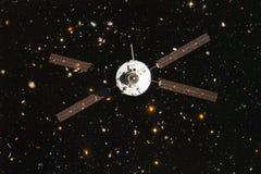 Lancement de vaisseau spatial dans l'espace Beauté d'espace extra-atmosphérique images libres de droits