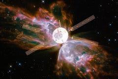 Lancement de vaisseau spatial dans l'espace Beauté d'espace extra-atmosphérique image stock