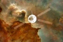 Lancement de vaisseau spatial dans l'espace Beauté d'espace extra-atmosphérique Milliards de galaxies dans l'univers Éléments de  image libre de droits