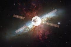 Lancement de vaisseau spatial dans l'espace Beaut? d'espace extra-atmosph?rique image libre de droits