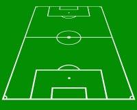 Lancement du football photographie stock