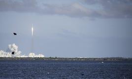 Lancement lourd de faucon dans Cap Canaveral Photographie stock