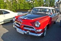 Lancer-Dois-tom real de 1956 rodeios vermelho & preto Foto de Stock Royalty Free