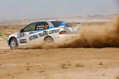 Lancer Evo Мицубиси - ралли 2012 Кувейта Стоковые Фото