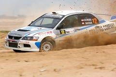 Lancer Evo IX до Мицубиси ралли 2012 Кувейта Стоковые Изображения