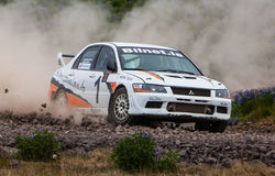Lancer Evo Rallycar Royalty Free Stock Photos