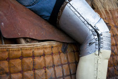 Lancer leg protection 2 Stock Photo