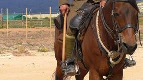 Lancer sulla fine del cavallo su archivi video