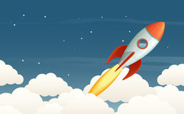 Lancerende raket stock illustratie