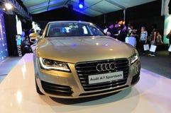Lancering van nieuw Audi A7, op vertoning, in Audi Fashion Festival 2011 Royalty-vrije Stock Fotografie