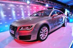 Lancering van nieuw Audi A7, op vertoning, in Audi Fashion Festival 2011 Royalty-vrije Stock Afbeelding