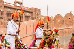 Lancers on Camels Royalty Free Stock Photo