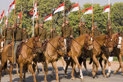 Lancers on Horseback Stock Photos