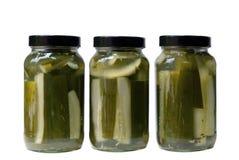 Lances de pickles à l'aneth Photographie stock
