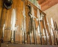 Lances et halebardes médiévales Photographie stock libre de droits