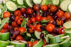 Lances grecques de salade Image stock