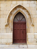 Lancet Arch Door. Lancet arch in door. Burgos Cathedral, Gothic Style. Spain royalty free stock photo