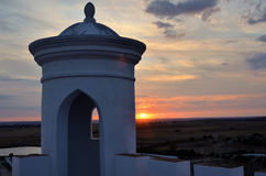 Lancet hole tower at sunset Royalty Free Stock Photos
