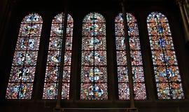 Lancet windows of Church of Notre-Dame, Dijon, France Royalty Free Stock Photo