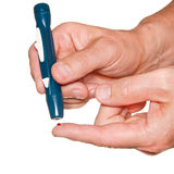 Lanceta do diabético Imagem de Stock Royalty Free