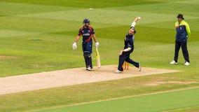 Lanceur de match de cricket photo stock