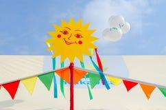 Lancez la stalle sur le marché de JSC Milkavita sur des festivités de Shrovetide Photographie stock