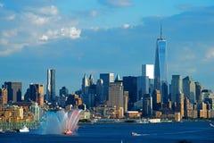Lancha contraincendios del Lower Manhattan de Nueva York Imágenes de archivo libres de regalías